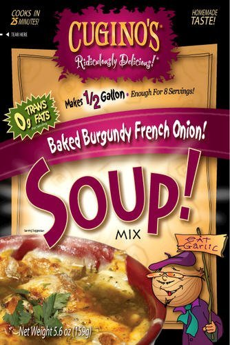 Cugino's, Gourmet Foods, Ridiculously Delicious Soups, Baked Burgundy French Onion Soup, 5.6oz Pouch (Pack of 2) by - Cuginos Onion French Soup