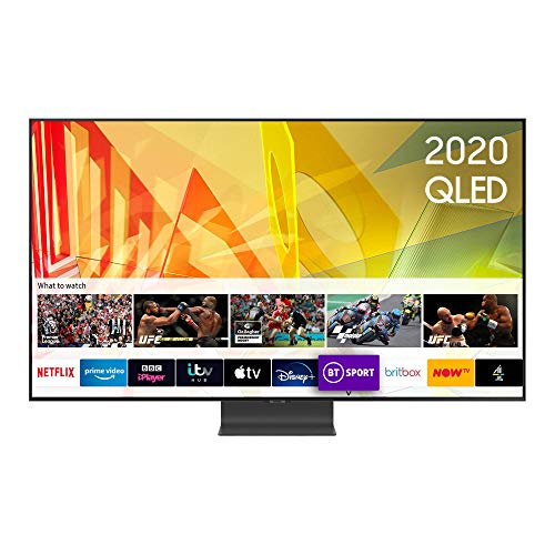 "Samsung 2020 85"" Q95T Flagship QLED 4K HDR 2000 Smart TV with Tizen OS,CARBON SILVER"
