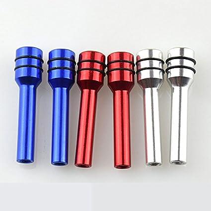 Ocamo 49mm Safety Door Lock Pin Aluminum Alloy Door Knob for Car red-one Pair
