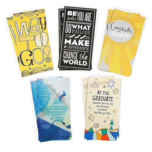 Hallmark Graduation Money Holder or Gift Card Holder Greeting Card Assortment (10 Cards/5 Designs, and 10 envelopes) by Hallmark