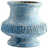 CYAN DESIGN 09619 Small Marina Bay Planter, Antique Blue