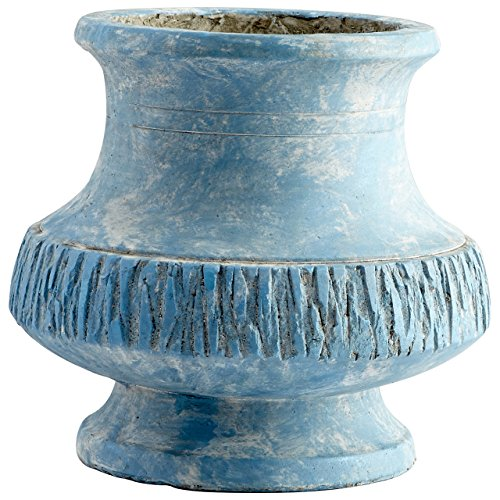 CYAN DESIGN 09619 Small Marina Bay Planter, Antique Blue by Cyan Design