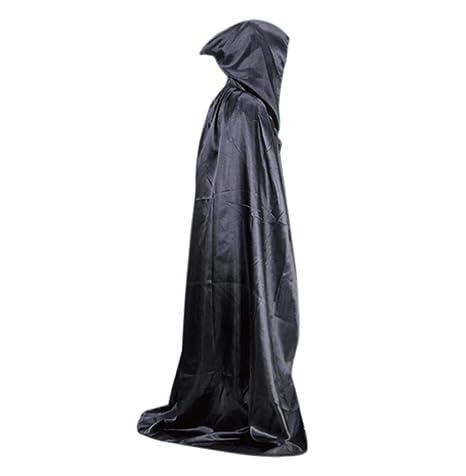 Capa con capucha Traje de capa de Halloween Mujer Hombre Longitud ...