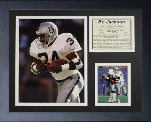 - Legends Never Die Bo Jackson Framed Photo Collage, White, 11x14-Inch