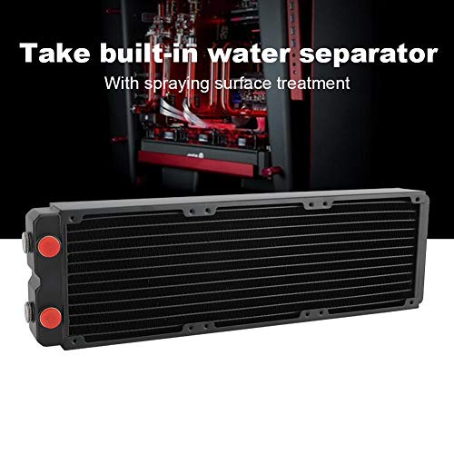 M ugast Water Cooling Radiator,360mm Copper Double-Layer Computer Cooler with Screws,PC CPU Heat Sink Water-Cooled Tube Device,Easy to Install