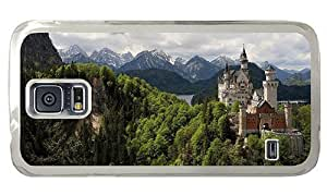 Hipster Samsung Galaxy S5 Case brand new cover Old Castle Rock PC Transparent for Samsung S5