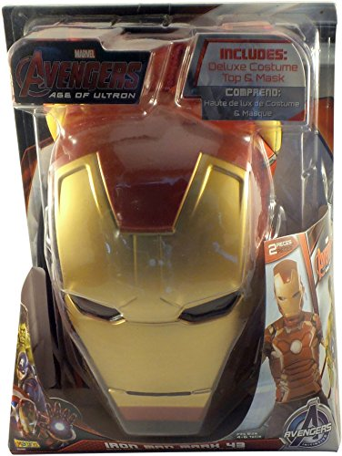 Imagine Marvel Avengers 2: Age of Ultron Boys Iron Man Mark 43 Deluxe Costume Top Set ()