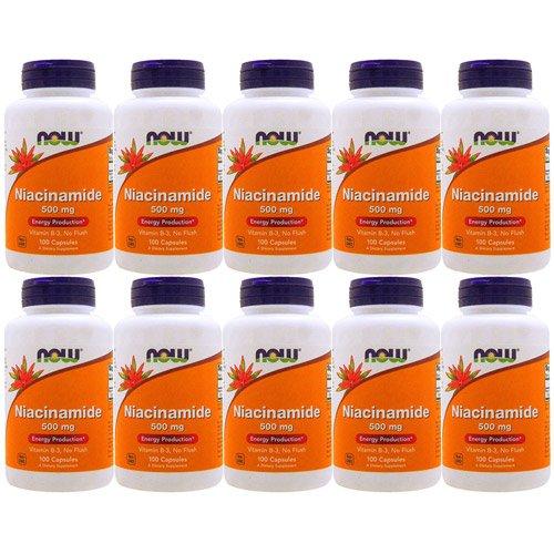 【10個セット】ナイアシンアミド(ビタミンB3)500mg 100粒[海外直送品] B077SFBVMS