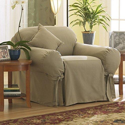 - Surefit Cotton Duck Club Chair Slipcover Color: Bluestone