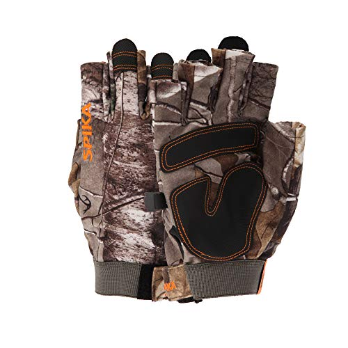 SPIKA Camouflage Hunting Fingerless Gloves,Military Tactical Half Finger Glove Hunting Driving Padding Climbing L-XL