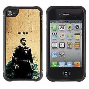 Suave TPU GEL Carcasa Funda Silicona Blando Estuche Caso de protección (para) Apple Iphone 4 / 4S / CECELL Phone case / / Flying Vintage Painting /