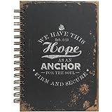 Distressed Design Hebrews 6:19 Hardcover Wirebound Journal