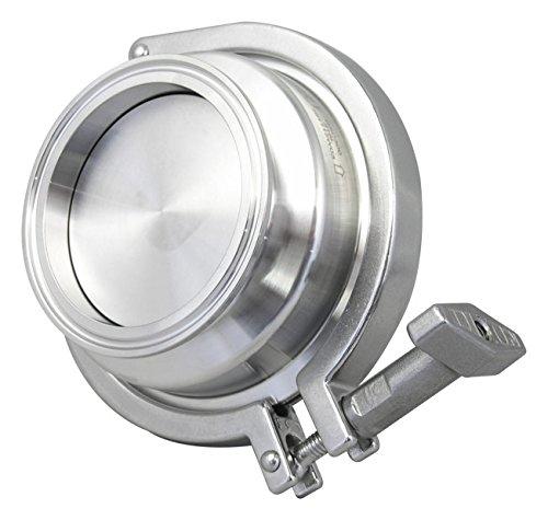 Dixon Sanitary HSC Series Spring Check Valve, 316L Stainless Steel - 1-1/2'' w/EPDM Seals