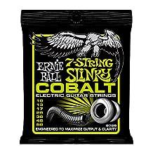 Ernie Ball 2728 7-String Cobalt Electric Guitar, Regular Slinky (10 - 56)