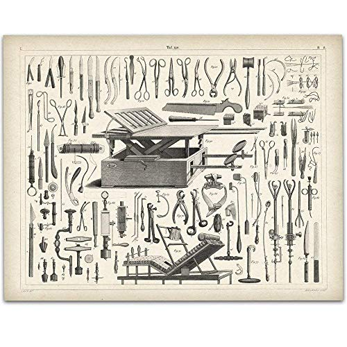 Vintage Medical Instruments - 11x14 Unframed Art Print - Great Gift For Nurse's Day!