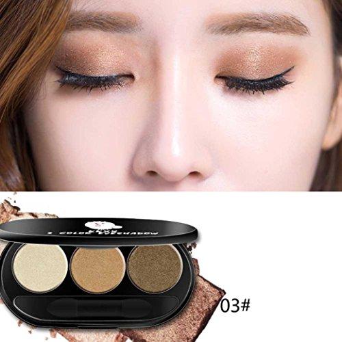 Corsion Daily Three Pop Color Eyeshadows Palette,Peach Makeu