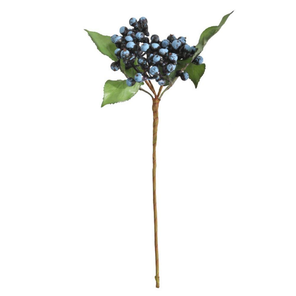Blue H.Yue Artificial Flowers Berry Stems Fake Holly Christmas Berries Branch for Festival Holiday Home Decor