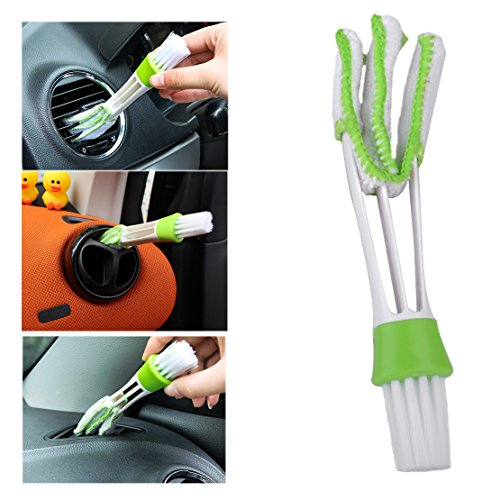 beler Universal Portable Multi-function Car Air Condition Vent Outlet Double Ended Dust Cleaning Brush & Duster Dusting Tool Kit
