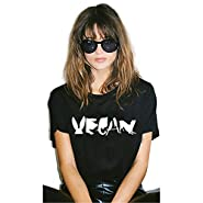 Yyicool Vegan Spelled With Animals Print Women Tshirt Cotton Casual Funny T Shirt For Lady Girl Tops