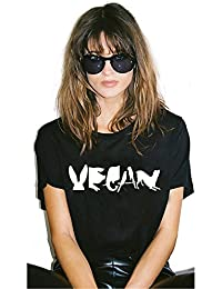 Vegan Spelled with Animals Print Women Tshirt Cotton Casual Funny T Shirt for Lady Girl Tops