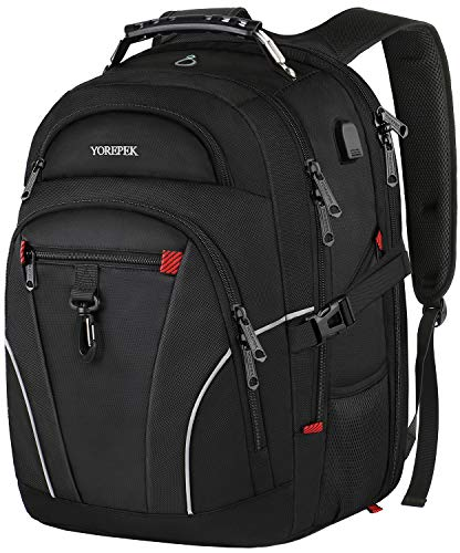 Travel Backpack for Men,TSA Laptop Backpacks with USB Charging Port,Extra Large Backpack with Luggage Sleeve, Water Resistant College School Bookbag Computer Bag Fits 17 inch - Airlines International