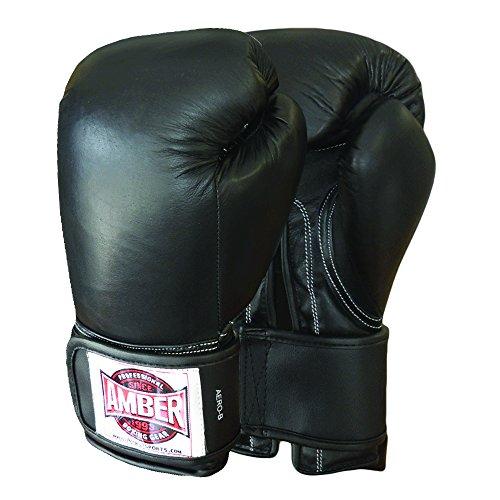 Amber Fight Gear Kickboxing & Boxing Aerobics Black Gloves 12oz