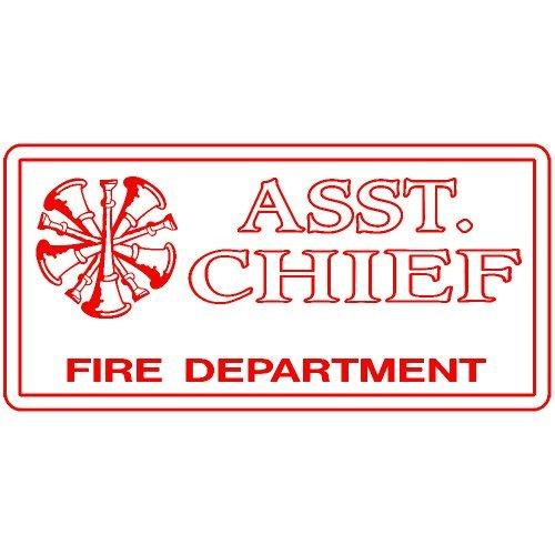 (Assistant Chief Fire Dept Decal Sticker (red), Decal Sticker Vinyl Car Home Truck Window)