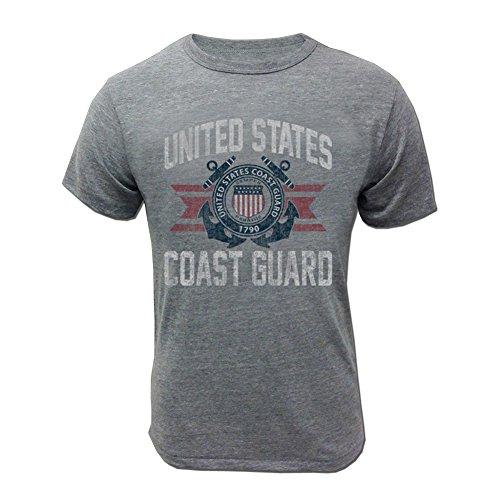 (Coast Guard Vintage Basic Tshirt - SM Grey )