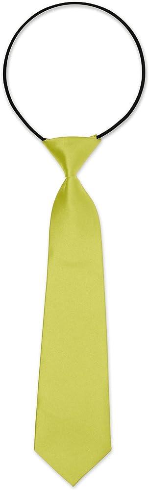 Autiga - Corbata - para niño amarillo claro Talla única: Amazon.es ...