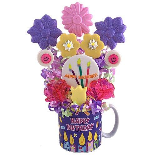 (Birthday Wishes Lollipop Bouquet)