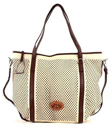 LA MARTINA Mora Large Shopping Bag Off White