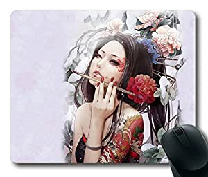 Geisha Artistic POP Masterpiece Limited Design Oblong Mouse Pad by Cases & Mousepads