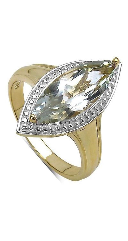 Goldancé – Women's Ring – 925 Sterling Silver, Gold Plated – Genuine Gemstone: Green-Amethyst – R9093GAMY-GP