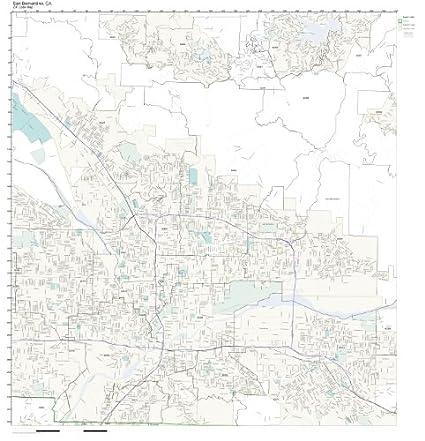 Amazon Com Zip Code Wall Map Of San Bernardino Ca Zip Code Map Not