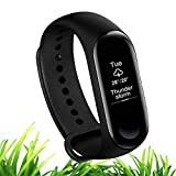 Xiaomi Mi Band 3 Fitness Tracker Fashion OLED Touch Screen Smart Watch Sport Wristband Bracelet Heart Rate Monitor Activity Workout 50M Waterproof Pedometer Weather Forecast Reminder Sleep English