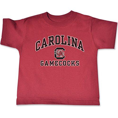 NCAA South Carolina Fighting Gamecocks Toddler Short Sleeve Tee, 2 Toddler, Cardinal (Carolina Jersey South Gamecocks)