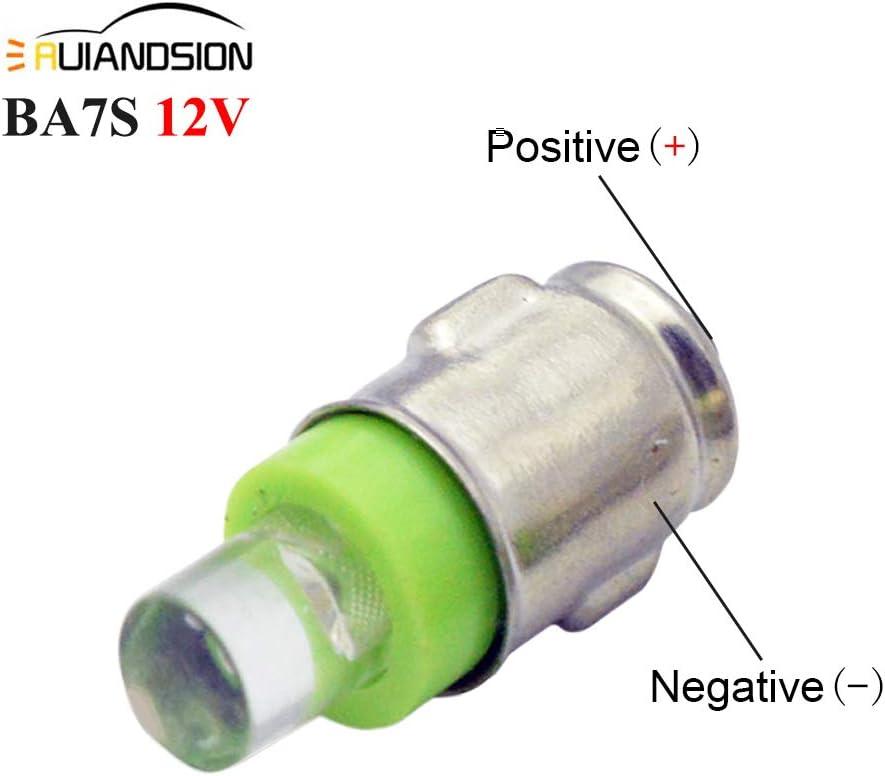 Ruiandsion BA7S Instrument LED Light F3 1 LED 12V DC 50LM White Car Mini Bulbs Lamps Led Car Instrument Light Warning lamp,Negative Earth Pack of 4