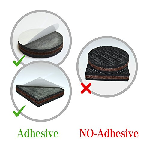NON SLIP Furniture Pads 16 PCS! Premium 2u201d Furniture Feet With Rubber U0026  Felt   Best Hardwood Floor Protectors For Keep All Furniture.