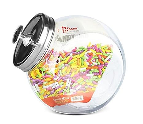 HOME BASICS GJ01384 Glass Cookie Jar, Medium HDS Trading Corp