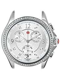 Michele Women's Belmore Chronograph 18mm Stainless Steel Diamond Watch Silver
