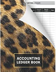 Accounting Ledger Book: Simple Accounting Ledger for Bookkeeping and Small Business