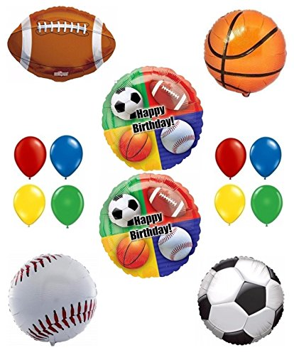 Happy Birthday Sport Theme Party Balloon Decoration Kit