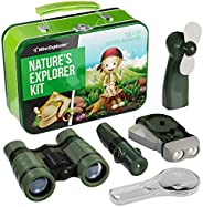Explorer Kit for Kids - Camping Gear & Outdoor Exploration Gift - Inc: Binoculars, Fan, Magnifying Glass,