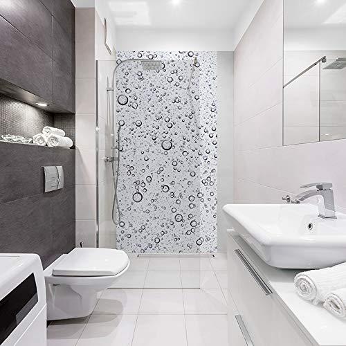 ID botonera bulles120 X 240 Panel de ducha negro, color blanco ...