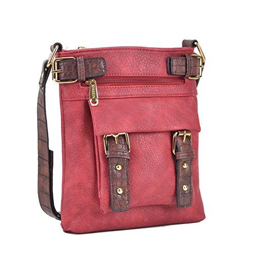 Dasein Top Belted Crossbody Bags for Women Soft Leather Messenger Bag Shoulder Bag Travel Purse