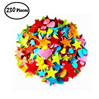 BellaBetty 230 Pcs Foam Stickers - Glitter Foam Stickers Self Adhesive Sparkle Stickers for Crafts /School and Christmas Projects /Home Decoration