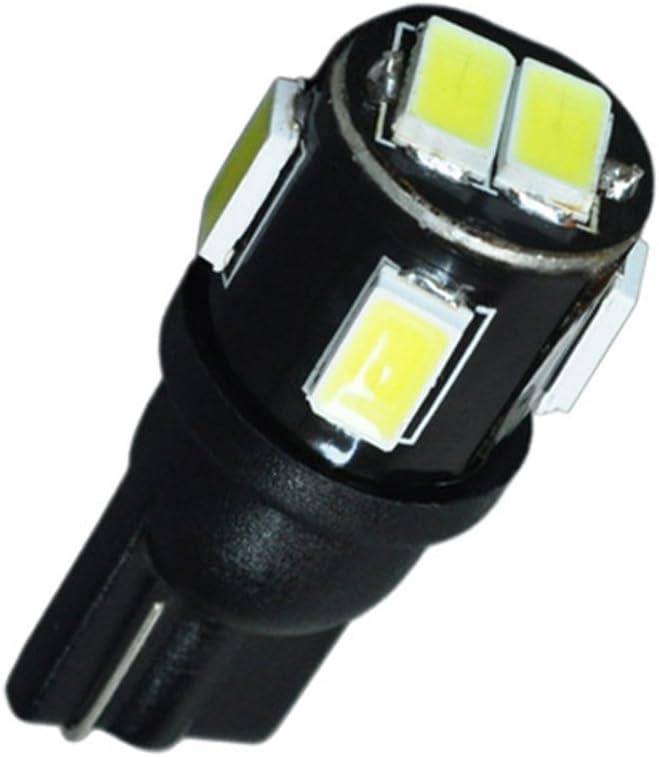 10x T10 LED W5W Side Light Bulbs 6 SMD 5630 License Plate Lights Wedge White High Power LED Car Light 12V Reading Lights