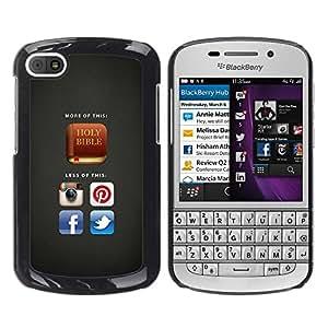 Paccase / SLIM PC / Aliminium Casa Carcasa Funda Case Cover para - BIBLE More Of Holy Bible - BlackBerry Q10