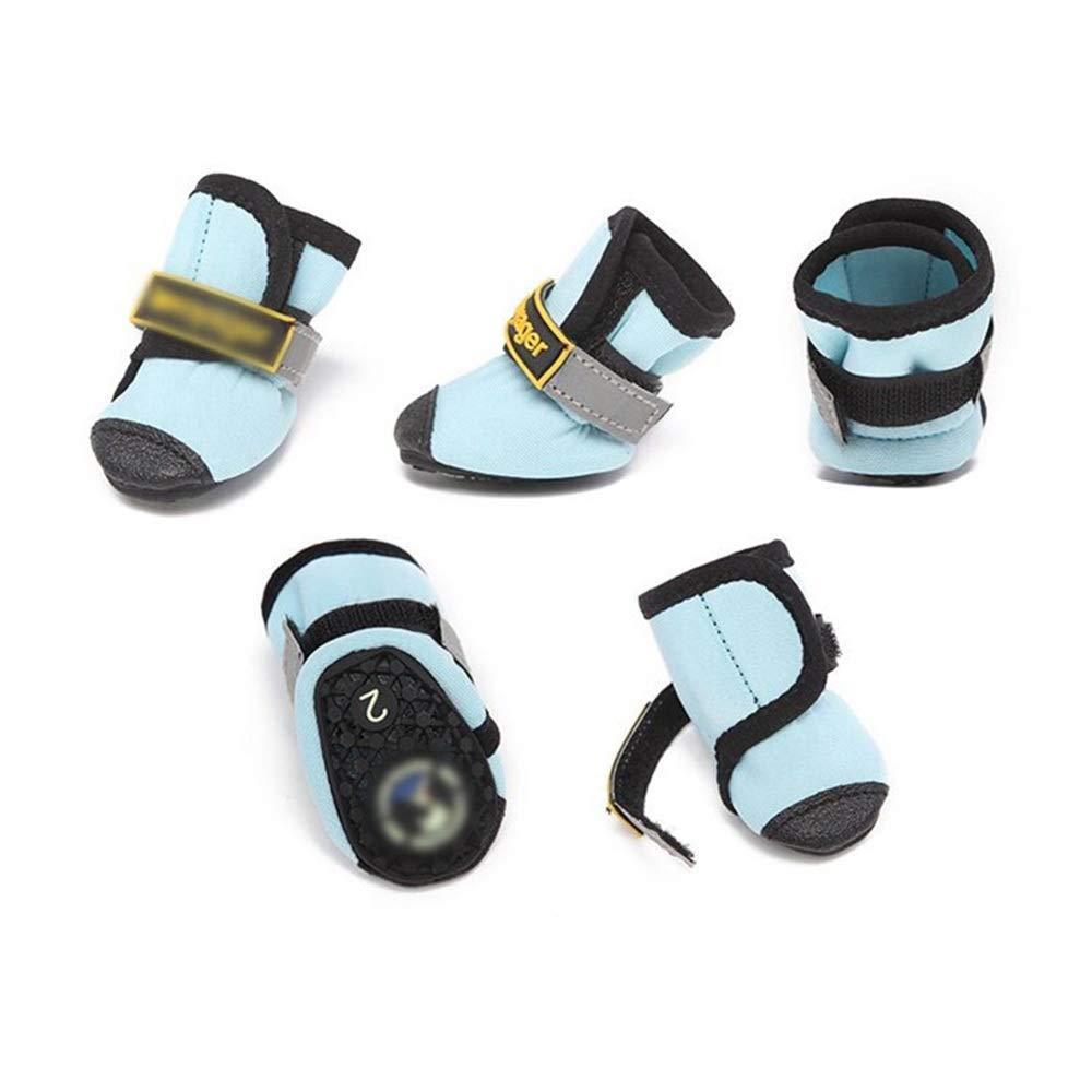 As-picture 3  As-picture 3  Huayue Pet Summer Supplies shoes Dog Breathable Sandals Pet Dog shoes Raincoat Non-Slip Beach shoes Pet Rain Boots (color, Size   3 )