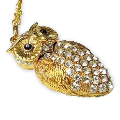 Newdigi® High Quality 8 GB/16GB Owl Crystal Jewelry USB Flash Memory Drive Necklace+Gift box